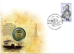 Numismatic Cover: 200th Birth Anniversary of Ľudovít Štúr