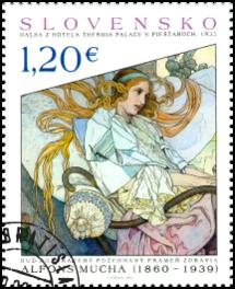 UMENIE: Alfons Mucha – maľba z hotela Thermia Palace v Piešťanoch