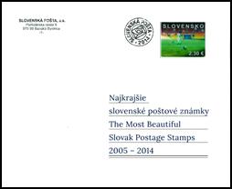 Knižná publikácia: Najkrajšie slovenské poštové známky 2005 - 2014 (so známkami)