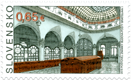 Postage Stamp Day: Bratislava 1 Post Office Building