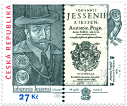 450th Anniversary of the Birth of Jan Jessenius (1566 – 1621). Isuue of Czech Republic