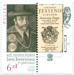 450th Anniversary of the Birth of Jan Jessenius (1566 – 1621). Issue of Poland