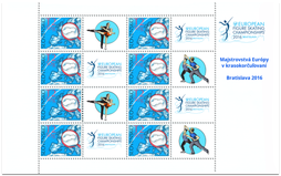 Print Sheet of Stamp with personalized coupon - European Figure Skating Championship in Bratislava