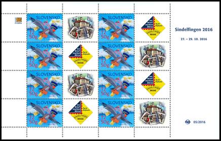 Tlačový list známky s personalizovaným kupónom - Sindelfingen 2016