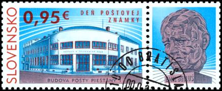 Deň poštovej známky: Budova pošty Piešťany 1