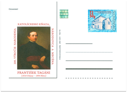 200. výročie narodenia Františka Tagániho (1816 - 1894)