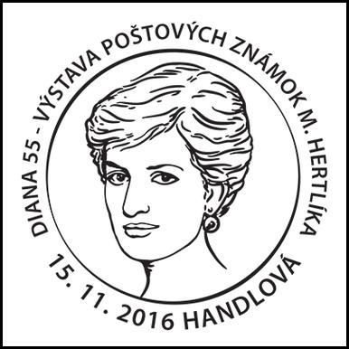 Diana 55 - Výstava poštových známok M. Hertlíka