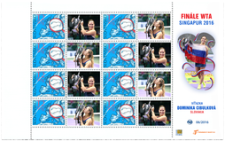Print Sheet of Stamp with personalized coupon - Dominika Cibulková, WTA Tour Singapore 2016