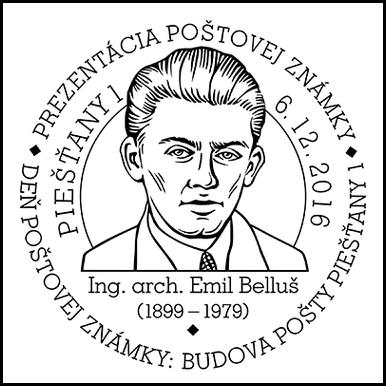 Prezentácia poštovej známky - Deň poštovej známky: Budova pošty Piešťany 1