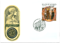 Numismatic Cover: 550th Anniversary of the Establishment of University Istropolitana