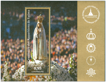 100th Anniversary of Our Lady of Fatima Apparitions - Luxembourg Issue