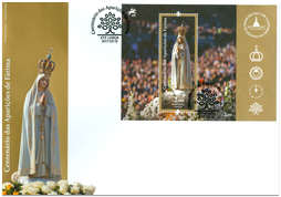 100th Anniversary of Our Lady of Fatima Apparitions: FDC Portugal Issue