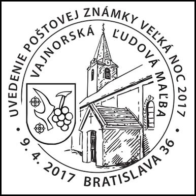 Uvedenie poštovej známky - Veľká noc 2017: Vajnorská ľudová maľba
