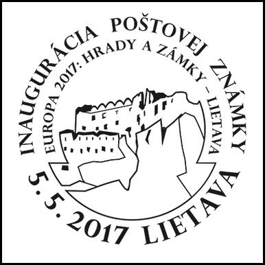 Inaugurácia poštovej známky - EUROPA 2017: Hrady a zámky - Lietava