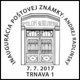 Inaugurácia poštovej známky: Andrej Radlinský