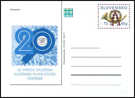 20. výročie založenia Slovenskej Filatelistickej Akadémie