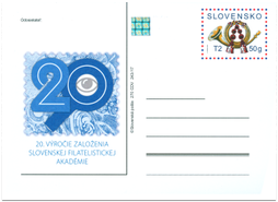 20th. Anniversary of Slovak Philately Academy