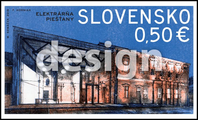 斯洛伐克5月18日发行技术遗产Piešťany发电站邮票