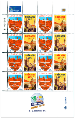 Tlačový list známky s personalizovaným kupónom - Sběratel 2017