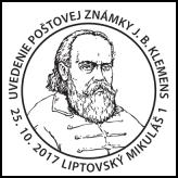 Uvedenie poštovej známky: J. B. Klemens