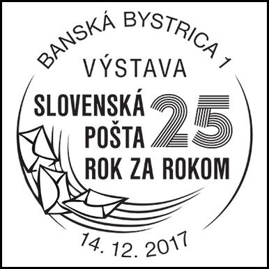 Výstava Slovenská pošta 25 rok za rokom