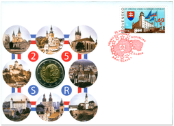 Numismatic Cover: The 25th Anniversary of the Establishment of the Slovak Republic