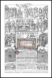 Spoločné vydanie s Vatikánskym mestským štátom: 1150. výročie uznania slovanského liturgického jazyka