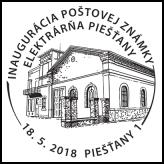 Inaugurácia poštovej známky: Elektrárňa Piešťany