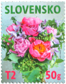 Postage Stamp with a Personalised Coupon: A Floral Motif
