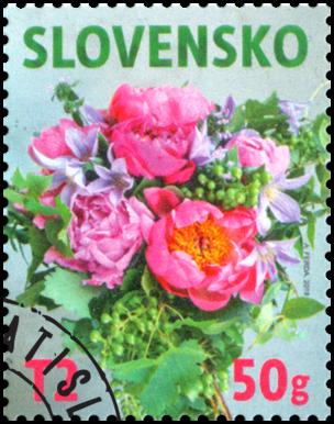 Známka s personalizovaným kupónom: Kvetinový motív