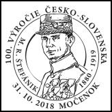 100. výročie vzniku Česko-Slovenska, M.R. Štefánik