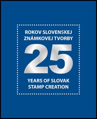 """Publikácia """"25 rokov Slovenskej známkovej tvorby"""" (bez známok)"""