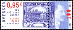 Postage Stamp Day: A. Mucha - Hradčany