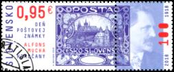 Deň poštovej známky: A. Mucha – Hradčany