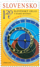 Joint Issue with Slovenia: The Slovak Astronomical Clock in Stará Bystrica