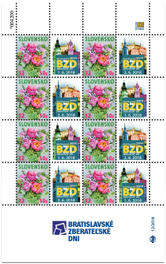 Tlačový list známky s personalizovaným kupónom - Bratislavské zberateľské dni 2018