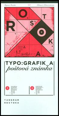 Infokarta v výstave TANGRAM ROSTOKA − Typo:grafik_a poštová známka