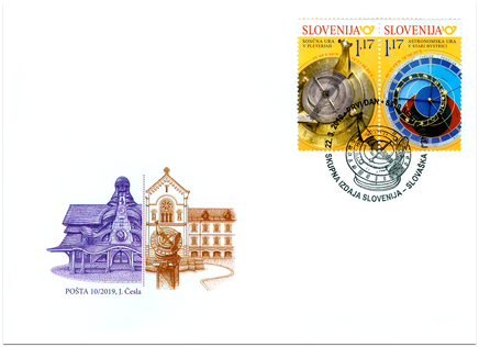 FDC Joint Issue with Slovenia: The Slovak Astronomical Clock in Stará Bystrica and Sun Clock in Pleterje