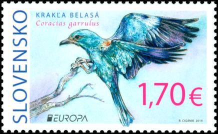 斯洛伐克5月3日发行欧罗巴20119国家鸟类邮票