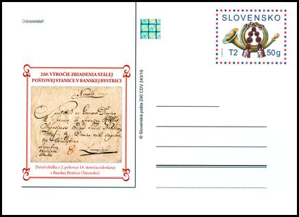 250. výročie zriadenia stálej poštovej stanice v Banskej Bystrici