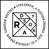 Tangram Rostoka TYPO: GRAFIK_A POŠTOVÁ ZNÁMKA