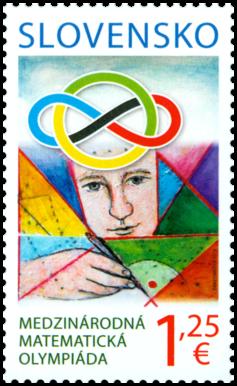 斯洛伐克6月7日发行国际数学奥林匹克竞赛邮票