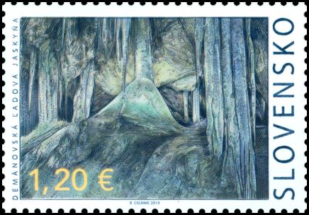 斯洛伐克6月21日发行我们祖国的美景:Demänovská冰洞邮票