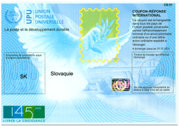 International Reply Coupon - 145th Anniversary of UPU