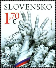 Spoločné vydanie s Českou republikou: 30. výročie Nežnej revolúcie