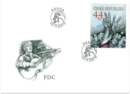 FDC - Joint Issue with Czech Republic: 30th Anniversary of Velvet Revolution