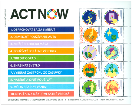 Joint Issue with Italia: Milanofil 2020 - ACT NOW (Miniature Sheet)