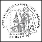 Nitra a Sv. Metod na poštových známkach