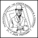 Filatelistická výstava: 140. výročie narodenia gen. M. R. Štefánika