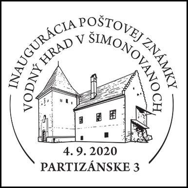 Inaugurácia poštovej známky - Vodný hrad v Šimonovanoch
